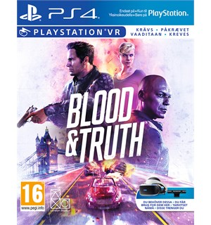 Blood and Truth VR PS4 Krever PlayStation VR